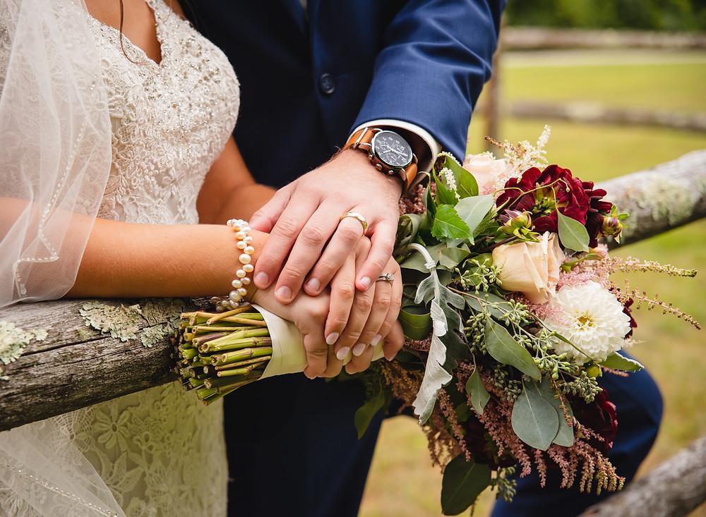 rustic wildflower wedding bouquet | Connecticut Wedding Photographer