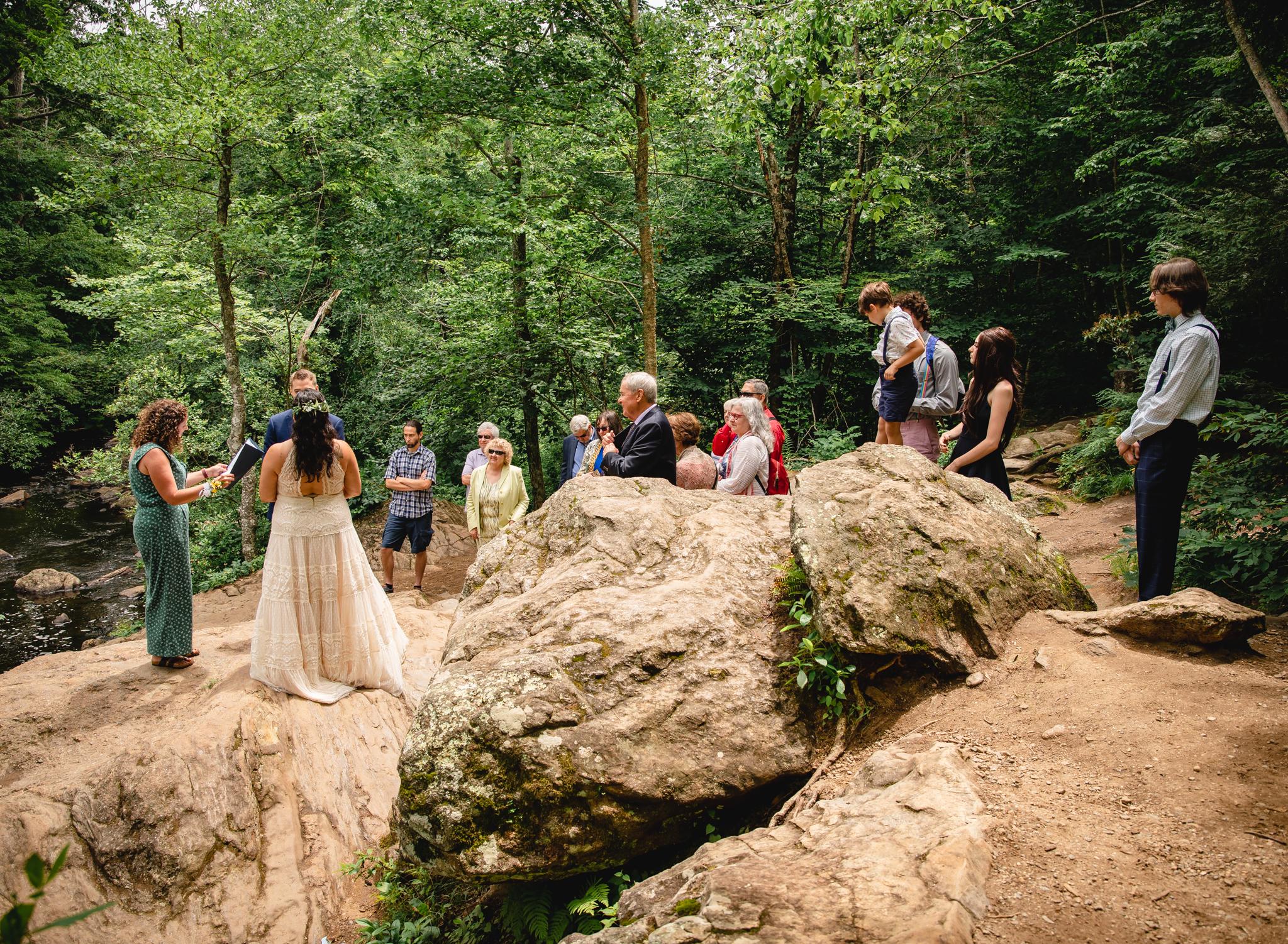 New England elopement on rocks