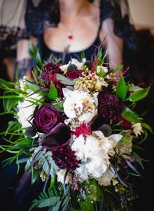 lush floral bridal bouquet floral designs by justine