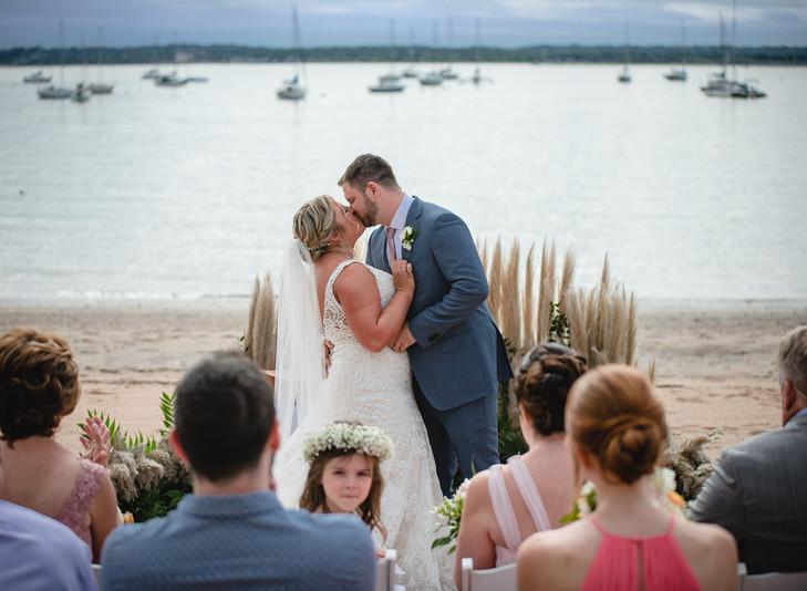 backyard beach elopement and micro-wedding