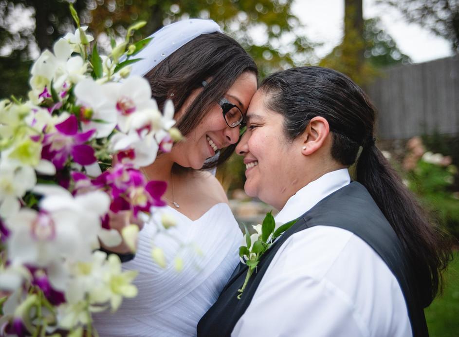 two brides enjoy their wedding day - wedding photography ct