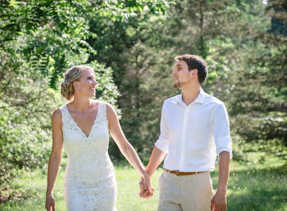 New England wedding couple