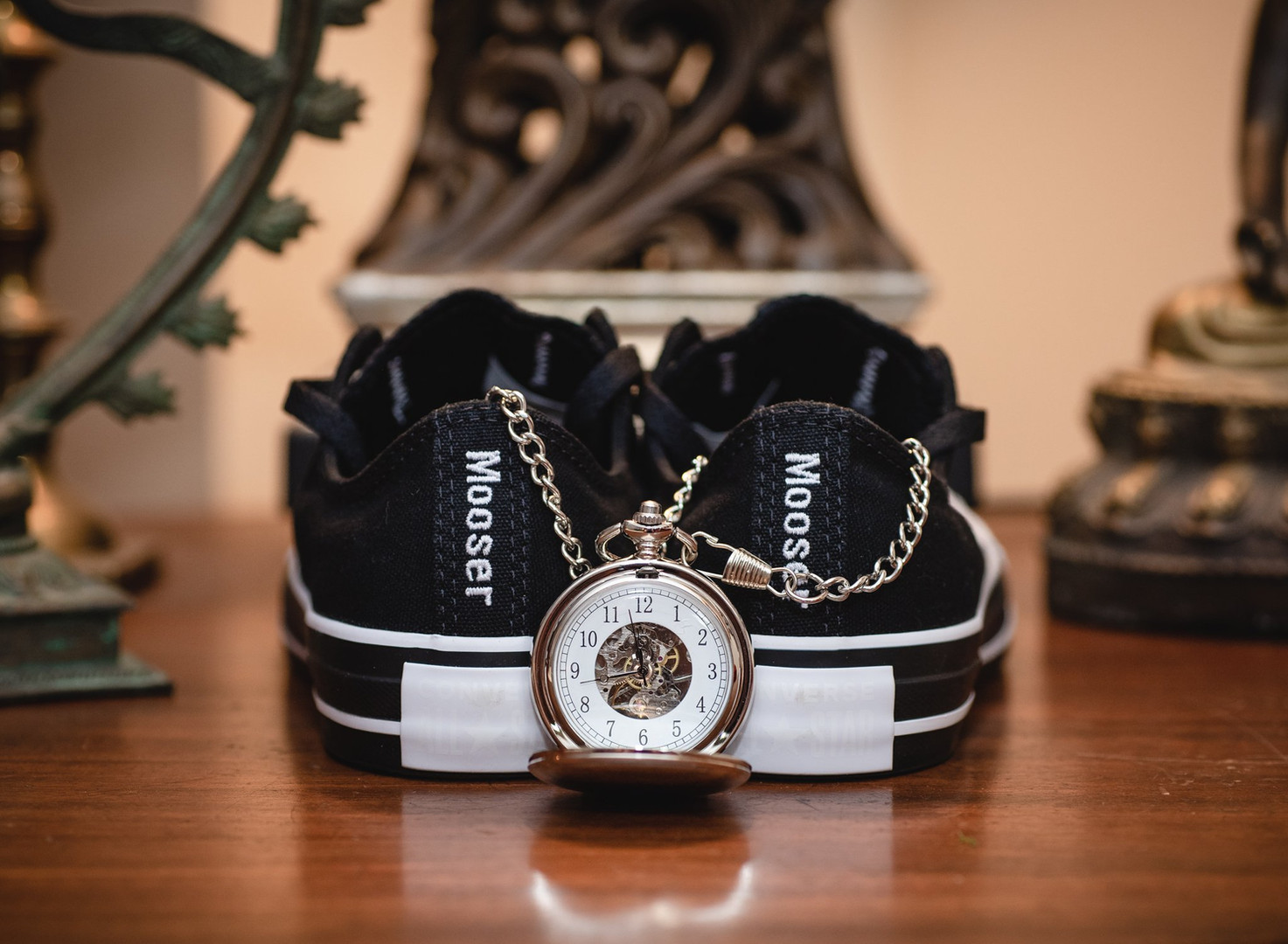 custom converse and pocketwatch