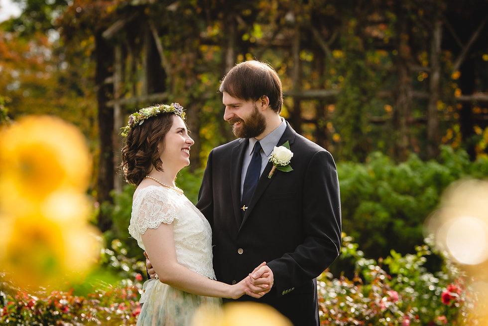 Intimate wedding portrait by Connecticut wedding photographer
