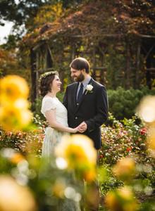 First Look between bride and groom at Elizabeth Park wedding