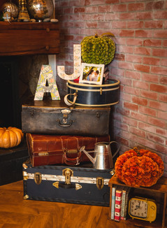 DIY fall wedding decor ad Pond House Cafe