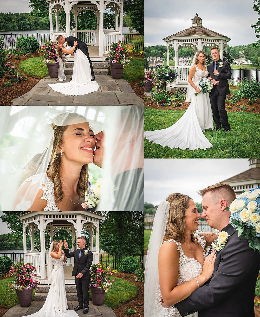 Bride and Groom Portraits at Anthony's Lake Club in Danbury CT