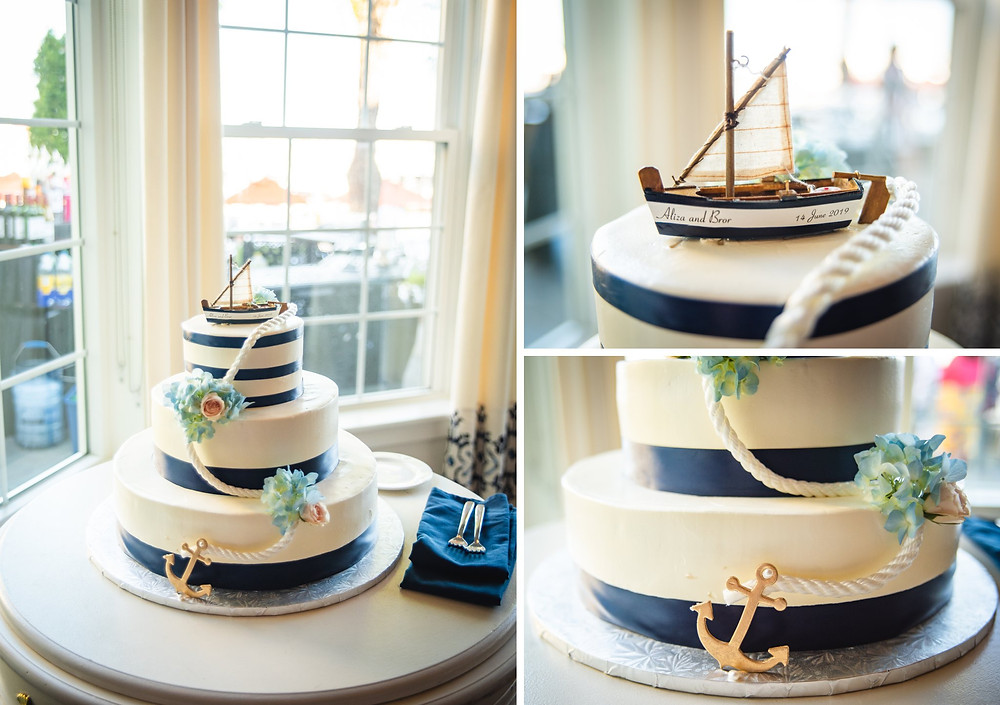 nautical themed cake by Creative Cakes by Donna | CT wedding photography
