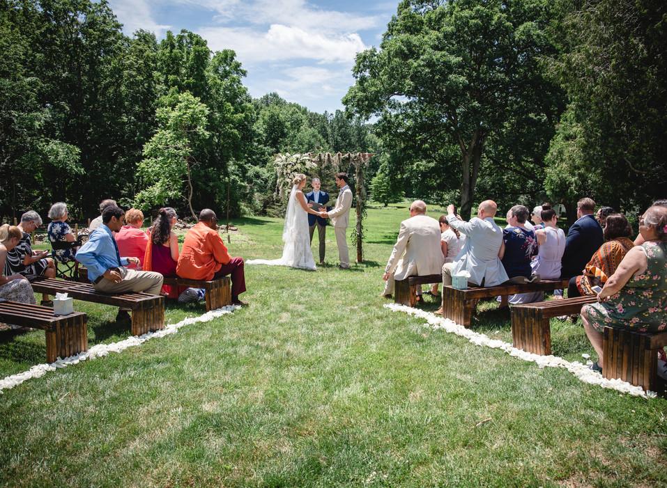 Intimate New England backyard wedding