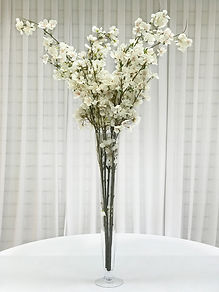 WEDDING BLUSH PINK BLOSSOM CENTERPIECE HIRE LONDON