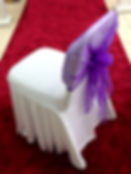 WHITE SPANDEX CHAIR COVER HIRE LONDON