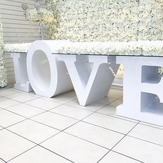 TAC WEDDING LOVE TABLE HIRE