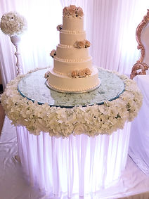 WEDDING FLORAL GLASS CAKE TABLE HIRE LONDON