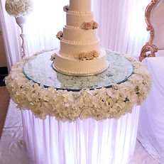 TAC FLORAL GLASS CAKE TABLE