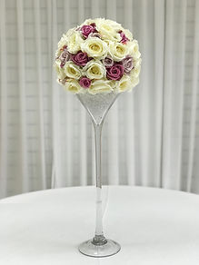 WEDDING CENTERPIECE MARTINI GLASS HIRE