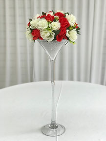 WEDDING CENTERPIECE MARTINI VASE HIRE LONDO