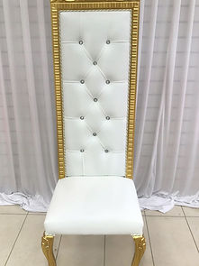 WHITE GOLD WEDDING THRONE