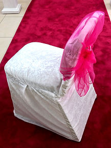 IVORY CRUSHED VELVET CHAIR COVER HIRE LONDON