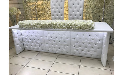 WEDDING HIGH TABLE HIRE - DIAMONTE LEATHER TABLE