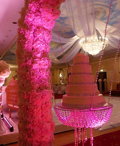 FLORAL ARCH CRYSTAL CAKE SWING HIRE LONDON
