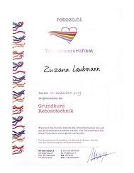 Zertifikat Mirjam de Keijzer Rebozo