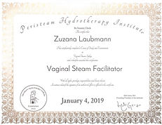 Certifikate Steamy Chick Vaginal Steaming