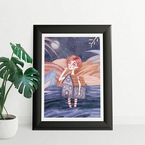 Ser hogar Digital Illustration