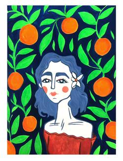 La joven de las naranjas