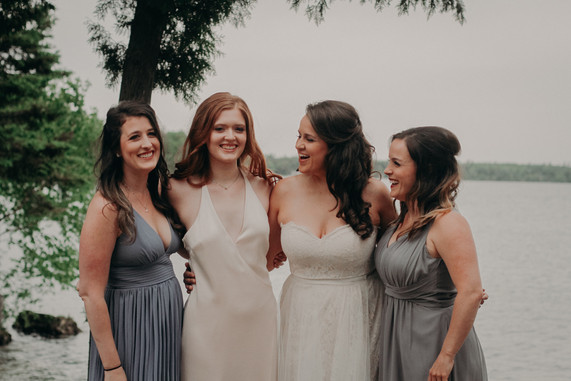 Heather and bridesmaids