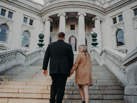 Natalie + Alex   Winter Engagement Session