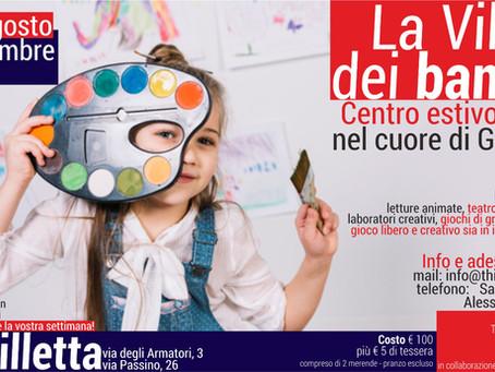 La Villetta dei Bambini: Centro Estivo Bilingue dal 31 agosto al 4 settembre nel cuore di Garbatella