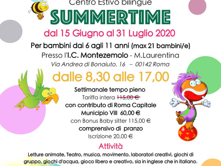 Roma Municipio VIII |Dal 15 Giugno, via ai Centri estivi per bambini: Un'Estate eccezionale 2020!
