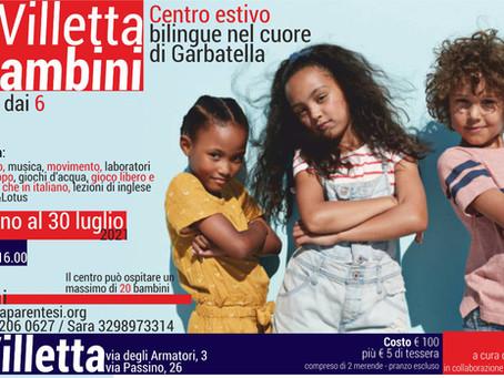 L'estate alla VILLETTA DEI BAMBINI: un centro estivo bilingue nel cuore di Garbatella