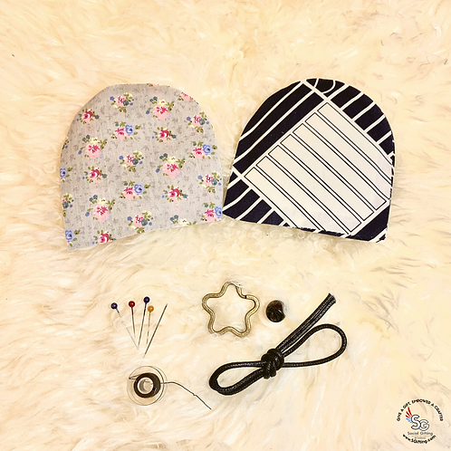 DIY Two-Toned Hand Sewn Japanese Fabric Key Pouch