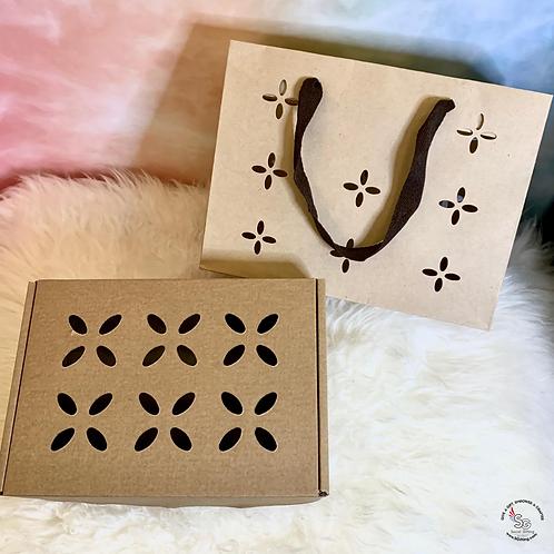 Add a Kraft Gift Box with Sakura