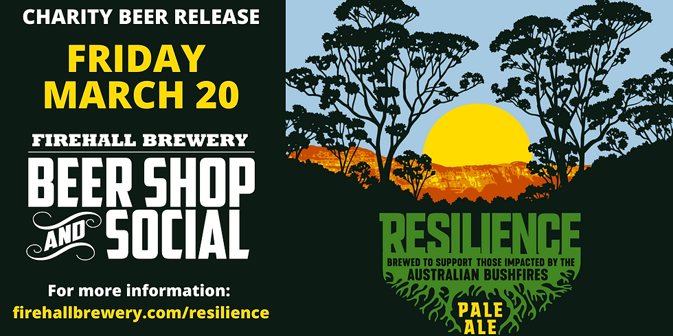 Charity Beer Release: Resilience Pale Ale