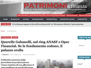 Querelle Gabanelli, sul ring ANASF e Opec Financial. Se le fondamenta cedono, il palazzo crolla...