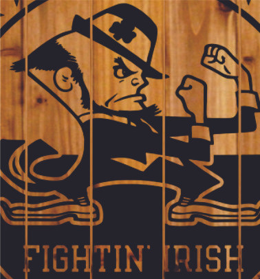 Notre Dame Wall Art notre dame fighting irish sign | design kraft signs & gifts
