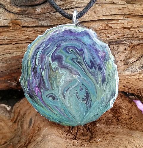 Painted Wood Pendant