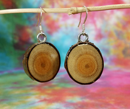 Cherry End Grain Earrings