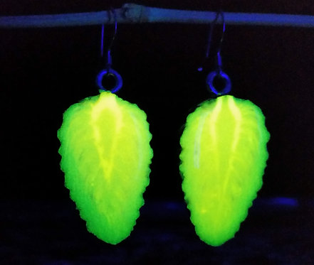 Glow in the Dark Pinecone Earrings