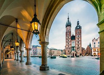 Beautiful Krakow market square, Poland,