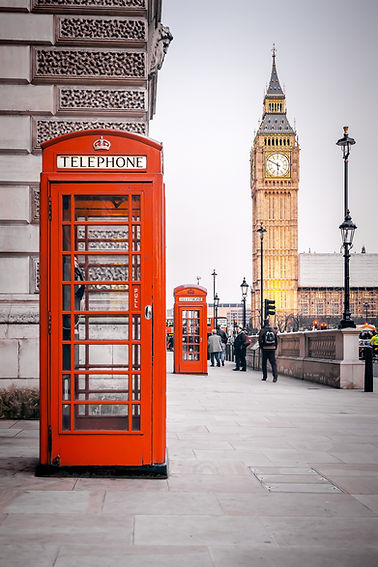 A photography of a red phone box in Lond