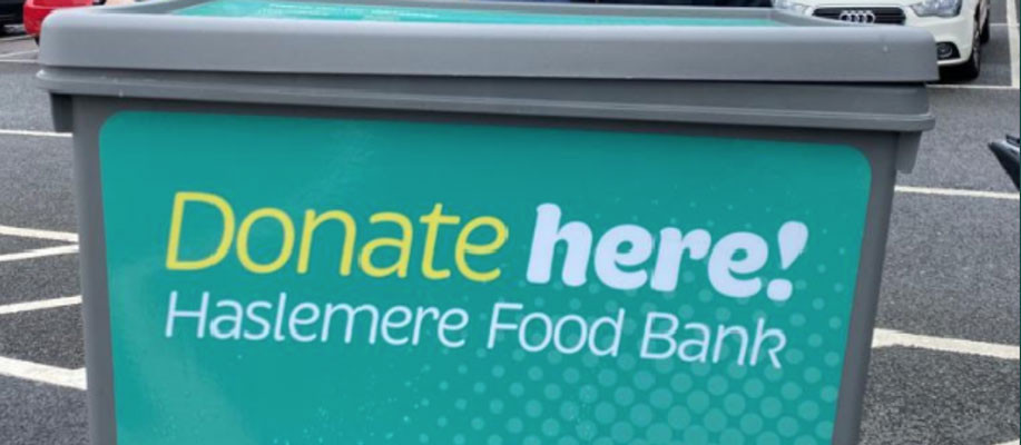 Our Parish support Haslemere Food Bank
