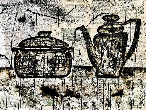 Pot, Kettle, in Black II