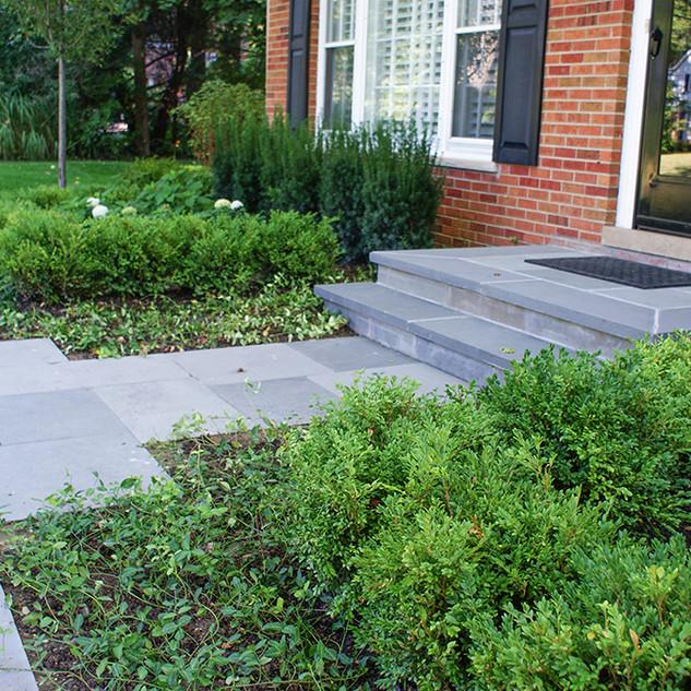 Thermal Blue Bluestone Stoop and Walkway