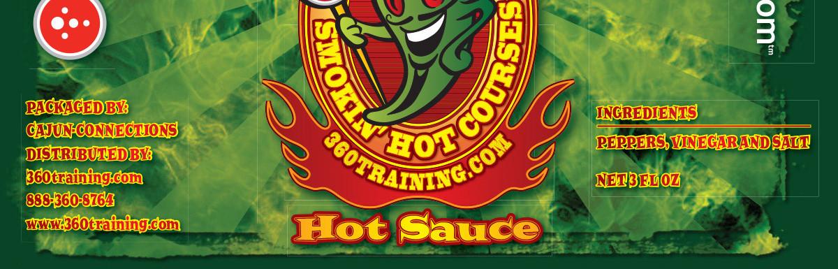 360 Hot Sauce Label