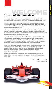 Circuit of The Americas Sodexo Brochure
