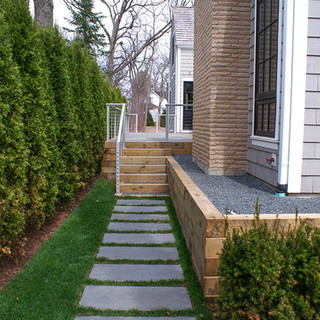 Bluestone Steppers Timber Retaining Walls