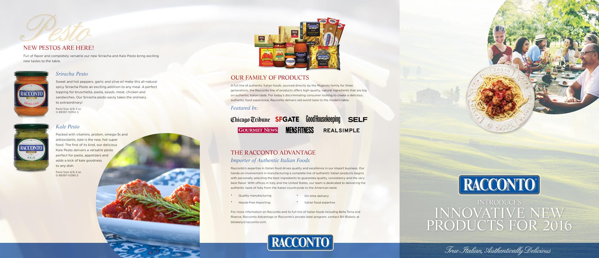 "Racconto Foods Direct Mail 25.5"" x 11"""